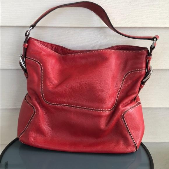 Michael Kors Handbags - Michael Kors Red leather purse should bag white